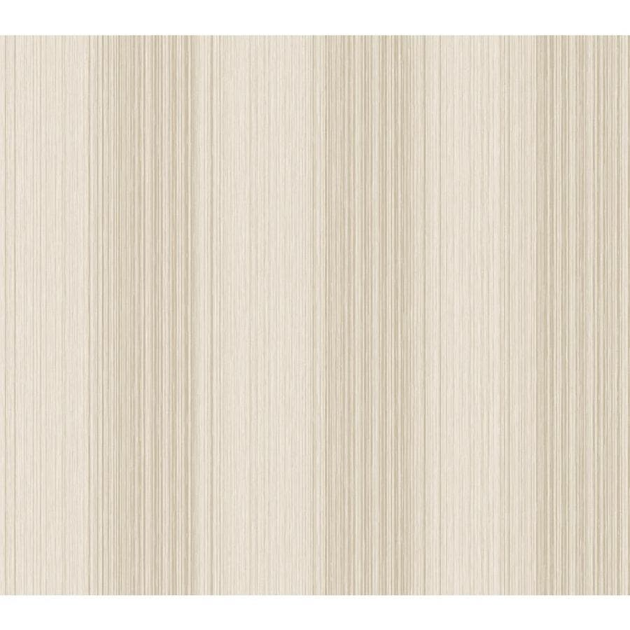 York Wallcoverings Silver, Cream Paper Stripes Wallpaper