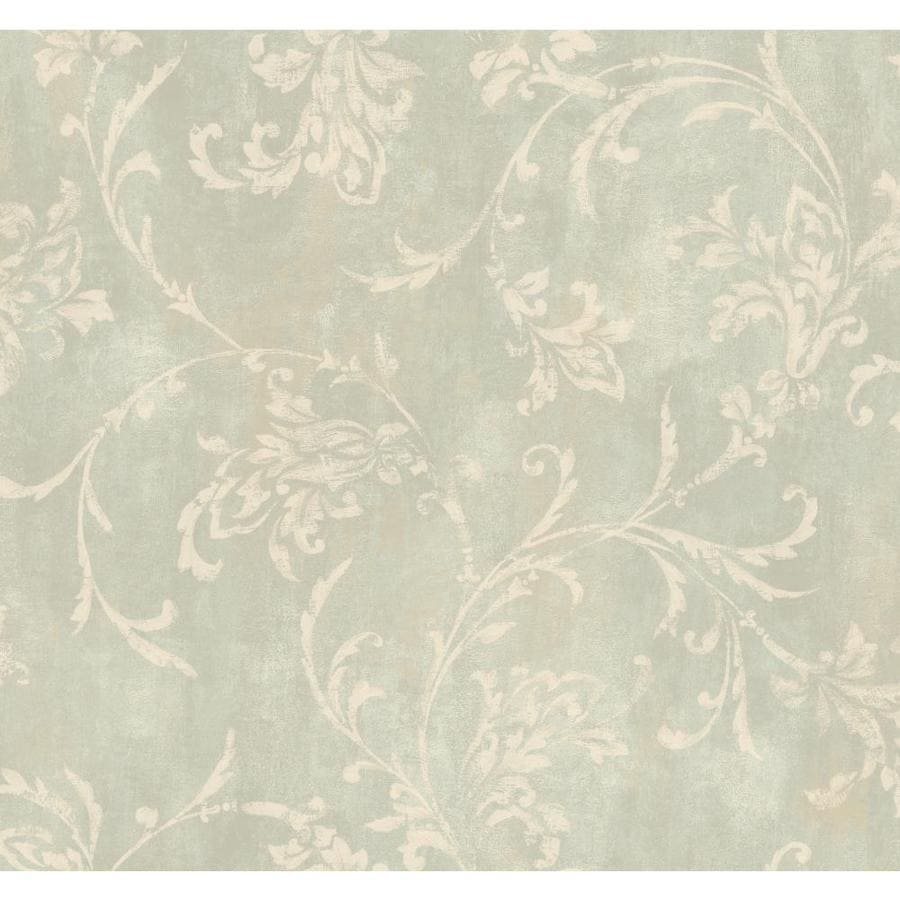 Inspired By Color Green Book Green and Ivory Paper Damask Wallpaper