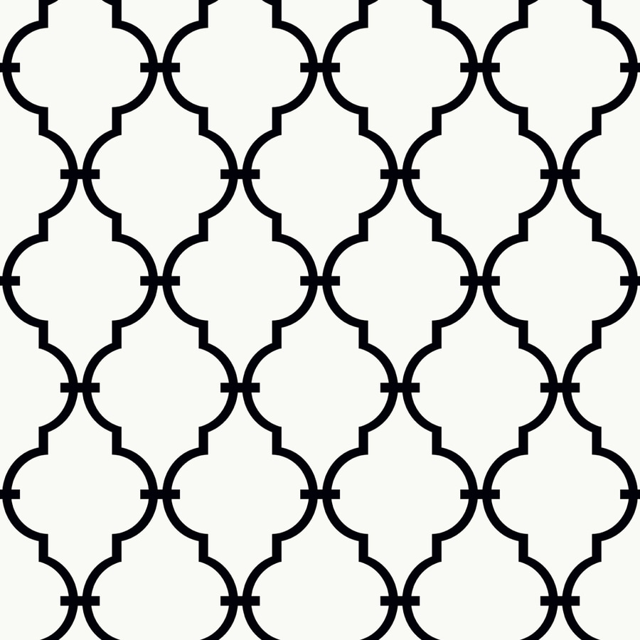York Wallcoverings New Neutrals White and Black Paper Geometric Wallpaper