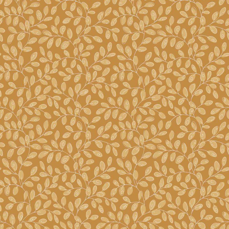 Inspired By Color Honey Gold and Caramel Paper Ivy/Vines Wallpaper