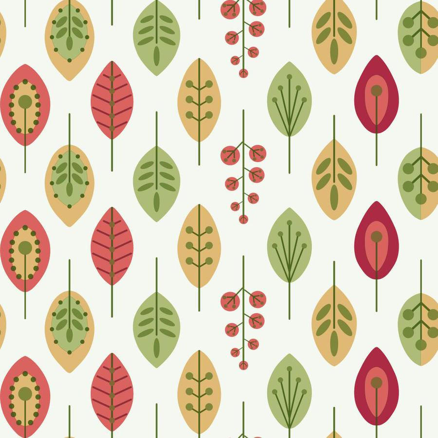 Inspired By Color Orange and Yellow Book Red, Green, Yellow and White Paper Ivy/Vines Wallpaper