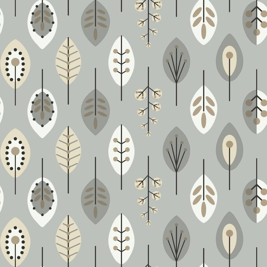 Inspired By Color Metallics Book Silver Paper Ivy/Vines Wallpaper