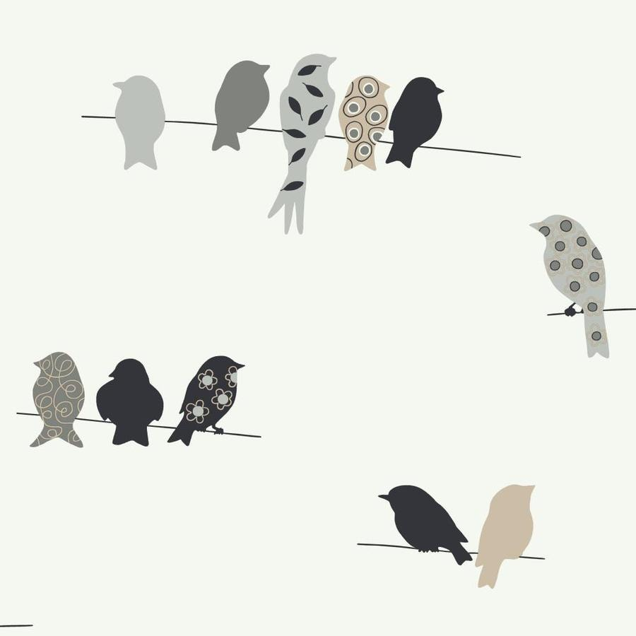 Inspired By Color Black and White Book Black, White and Gray Paper Birds Wallpaper