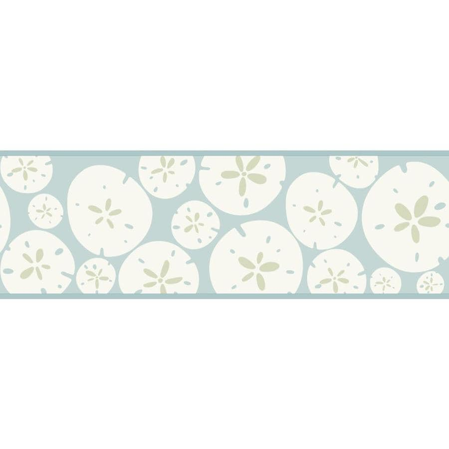Inspired By Color 6.75-in Blue/White Prepasted Wallpaper Border