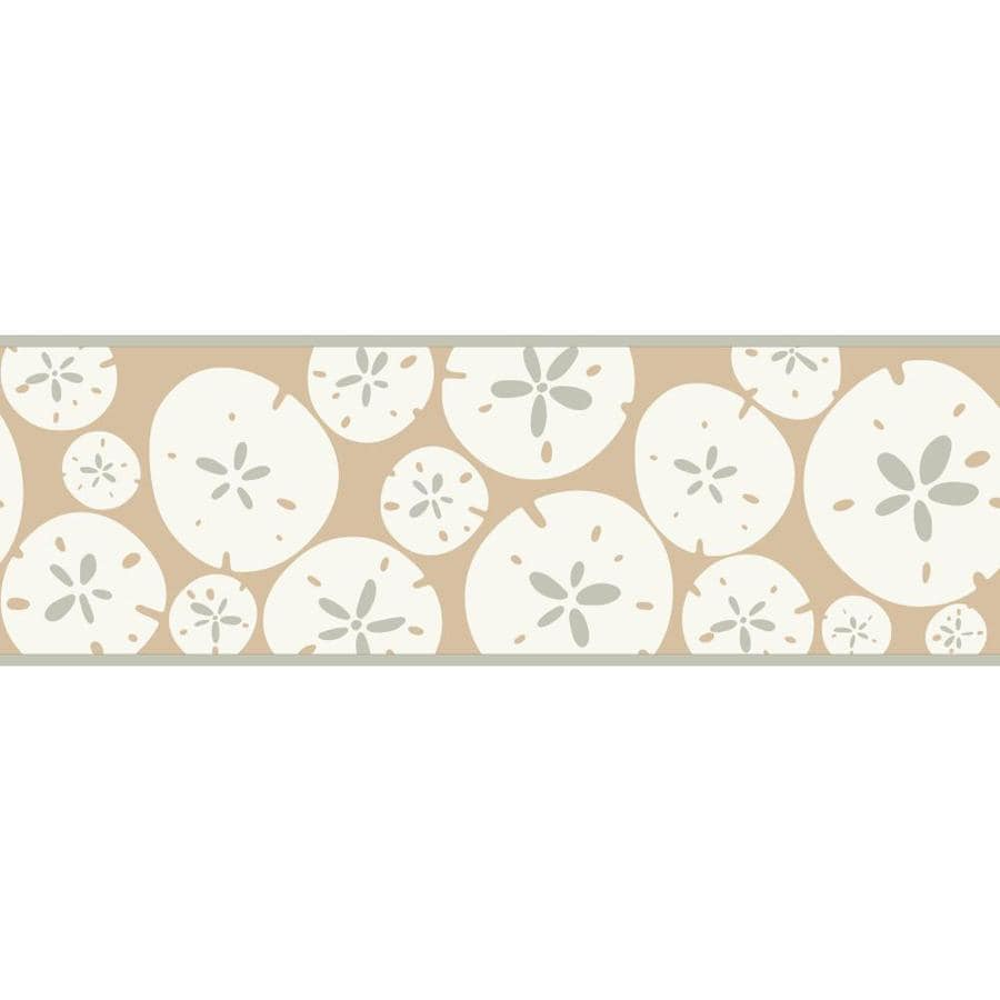 Inspired By Color 6.75-in Almond/White Prepasted Wallpaper Border