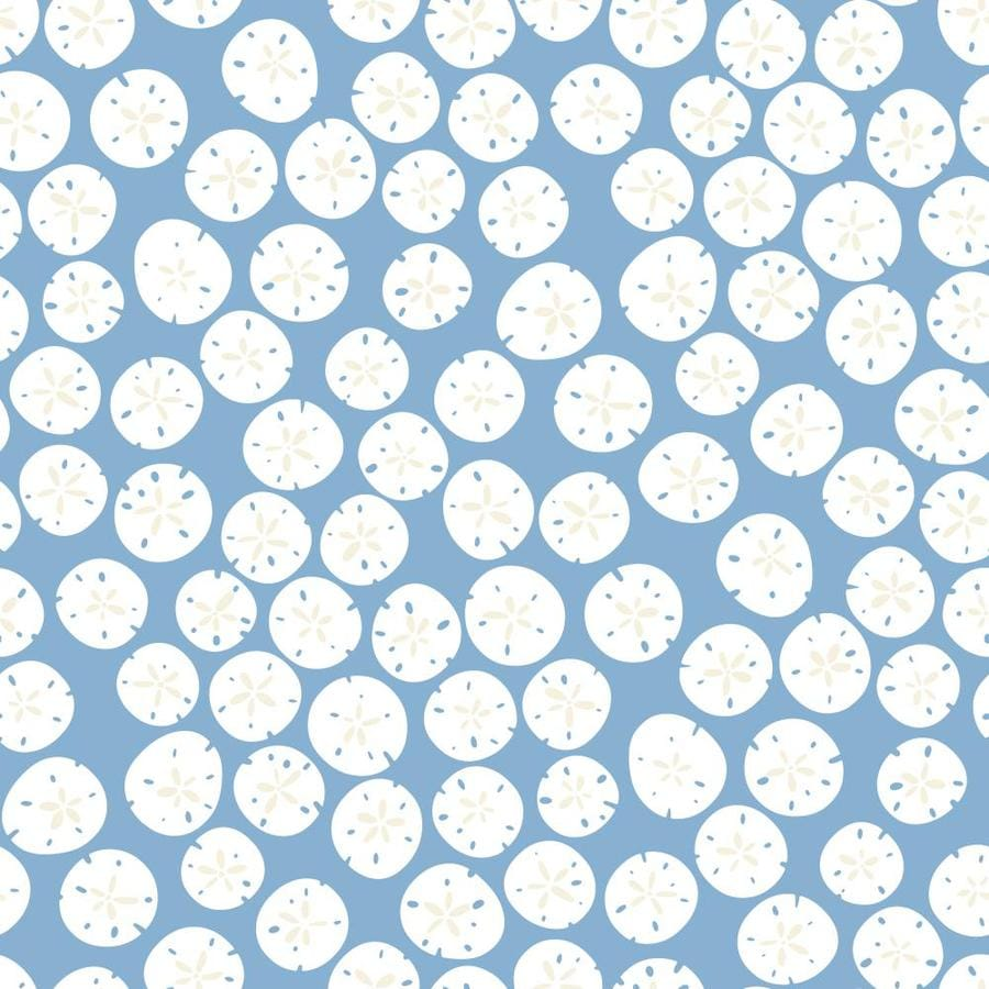 Inspired By Color Blue Book Blue and White Paper Shells Wallpaper