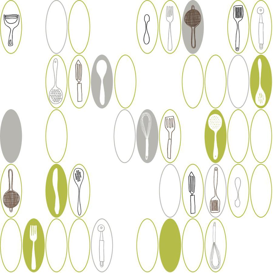 Inspired By Color White, Green and Gray Paper Wallpaper