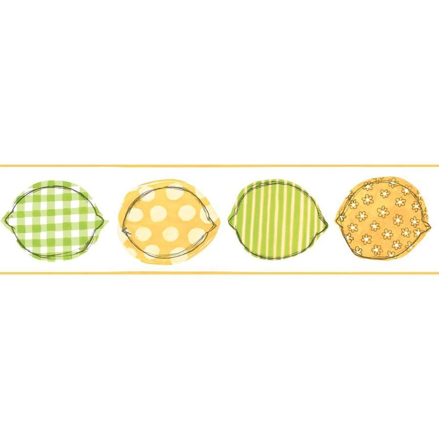 Inspired By Color 6-in Green/Yellow Prepasted Wallpaper Border