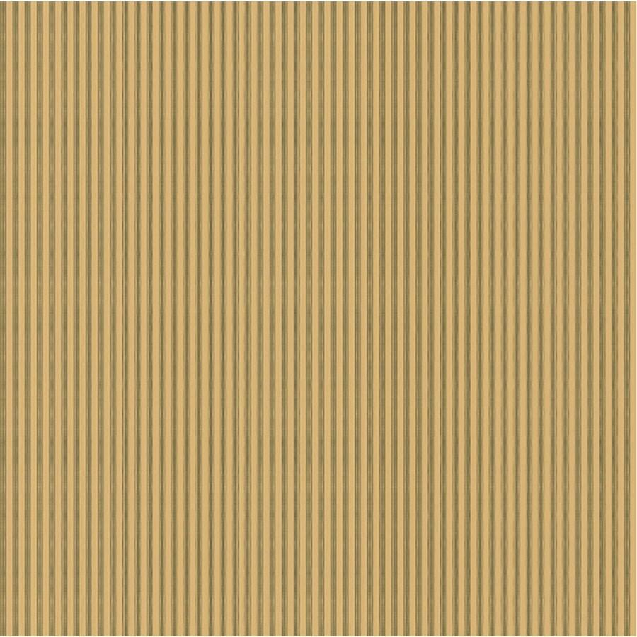 York Wallcoverings Green Book Khaki/Green Paper Stripes Wallpaper