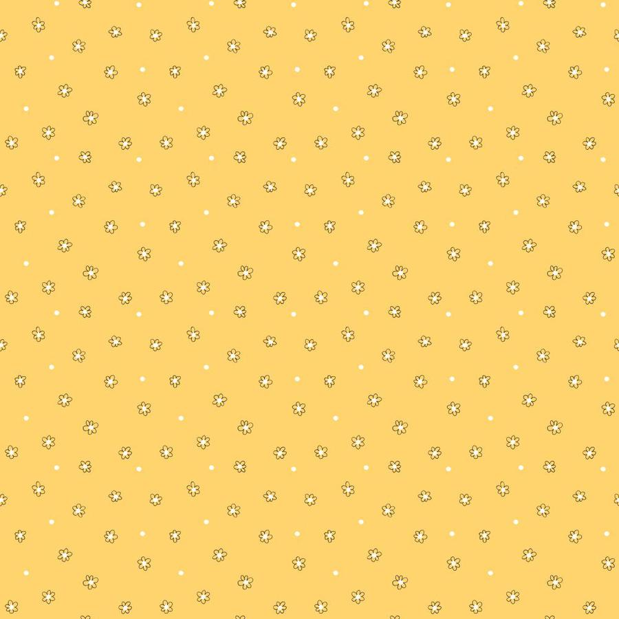 Inspired By Color Orange and Yellow Book Yellow and White Paper Floral Wallpaper