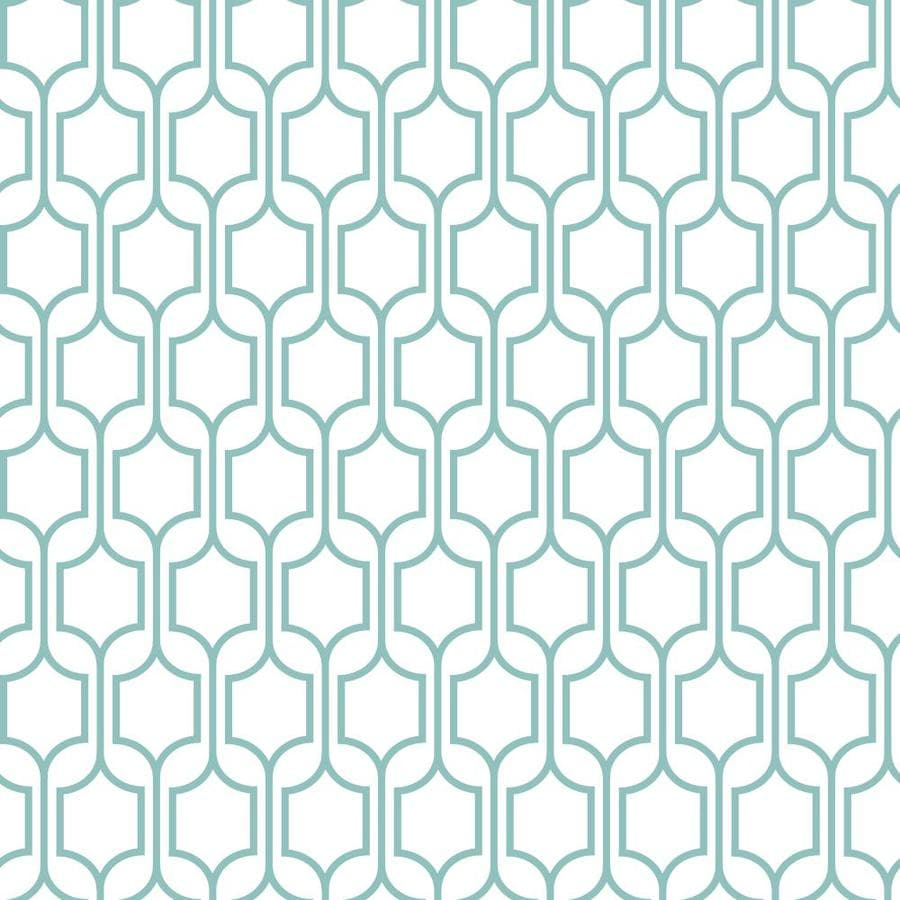 Inspired By Color Blue and White Paper Geometric Wallpaper