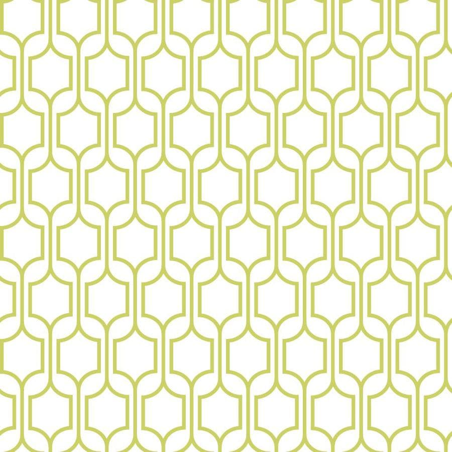 Inspired By Color Green and White Paper Geometric Wallpaper