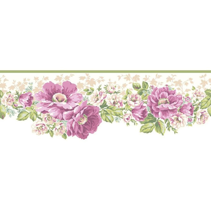 Inspired By Color 6.75-in Purple/Green Prepasted Wallpaper Border
