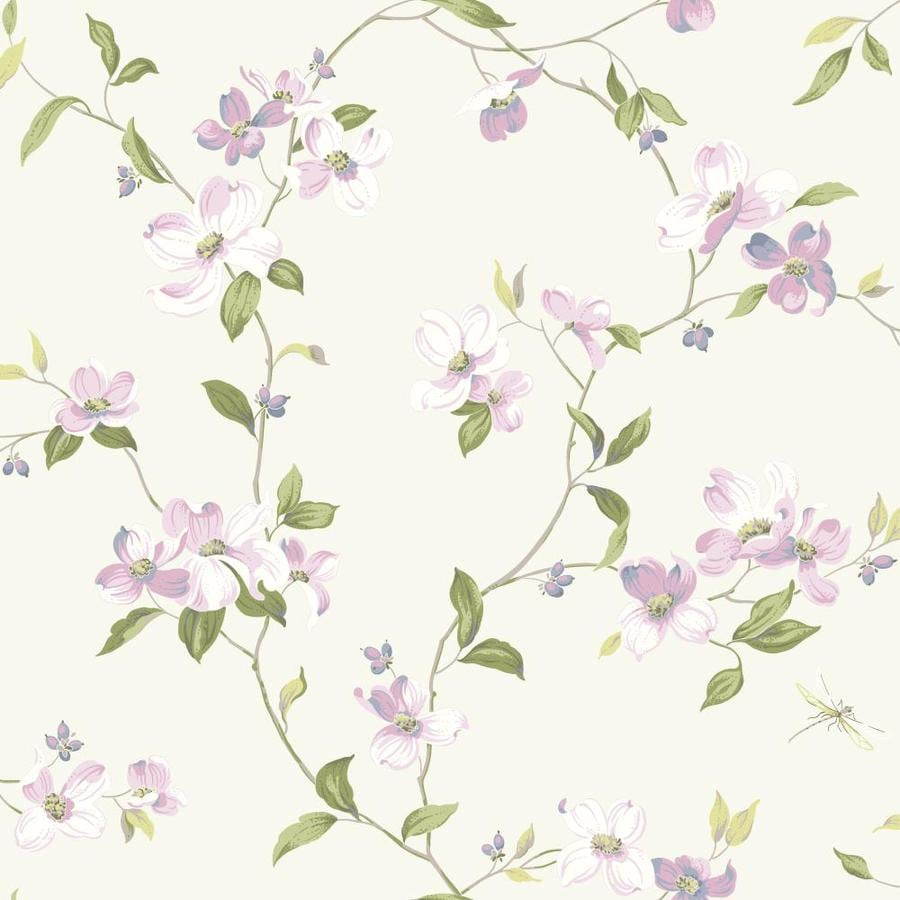 Inspired By Color Pink and Purple Book Purple Paper Textured Floral Wallpaper