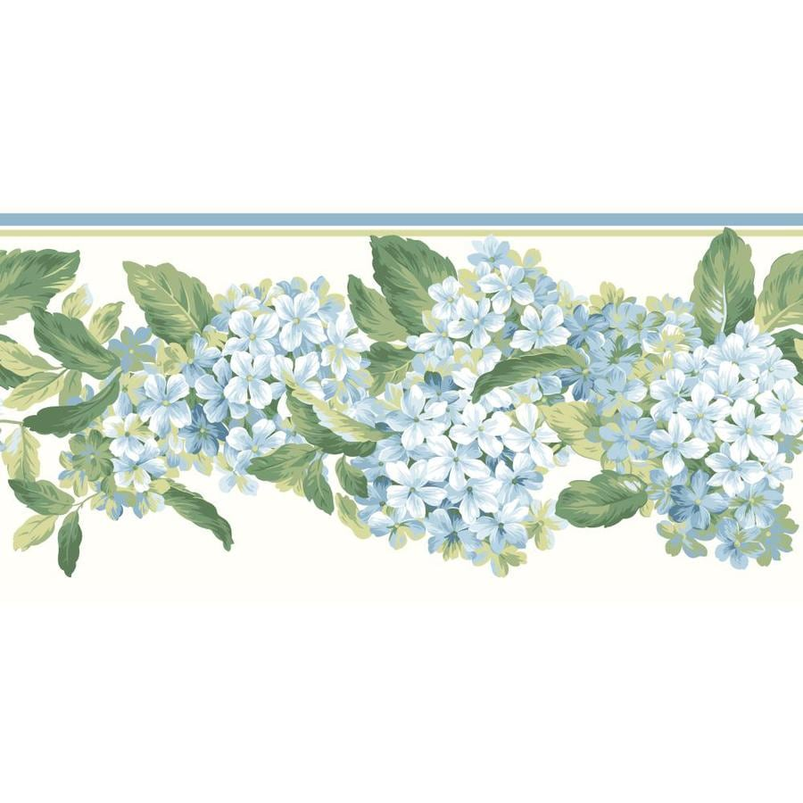 Inspired By Color 10.25-in Blue/Green Prepasted Wallpaper Border