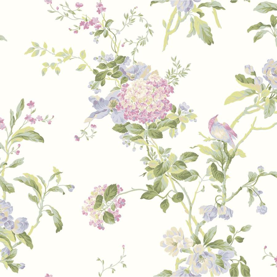 Inspired By Color Purple and Blue Paper Floral Wallpaper