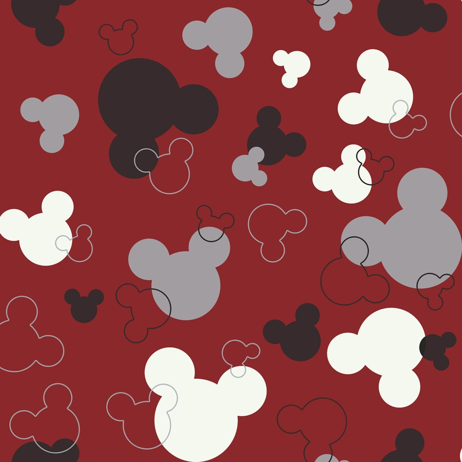 York Wallcoverings Disney Kids Red Background Paper Geometric Wallpaper