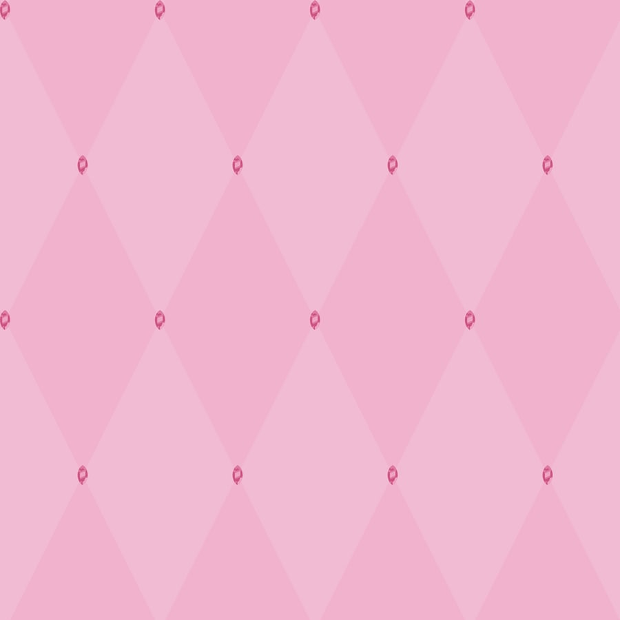 York Wallcoverings Disney Kids Pink with Pink Gems Paper Geometric Wallpaper