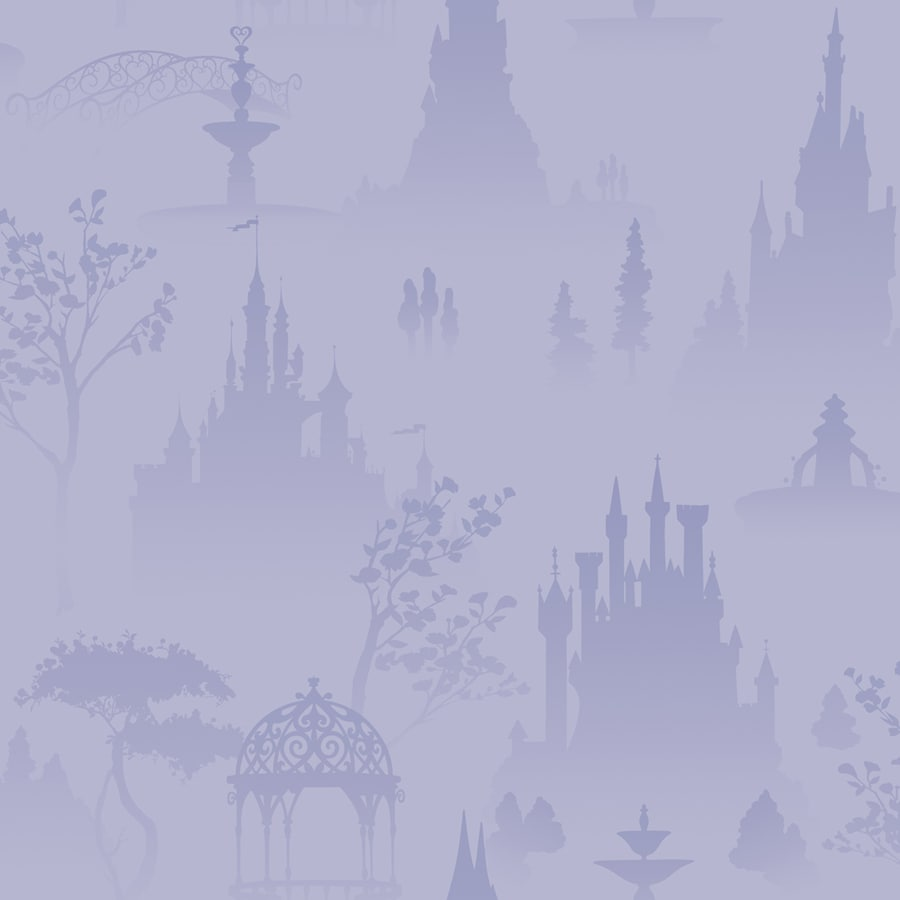 York Wallcoverings Disney Kids Purple Paper Scenic Wallpaper