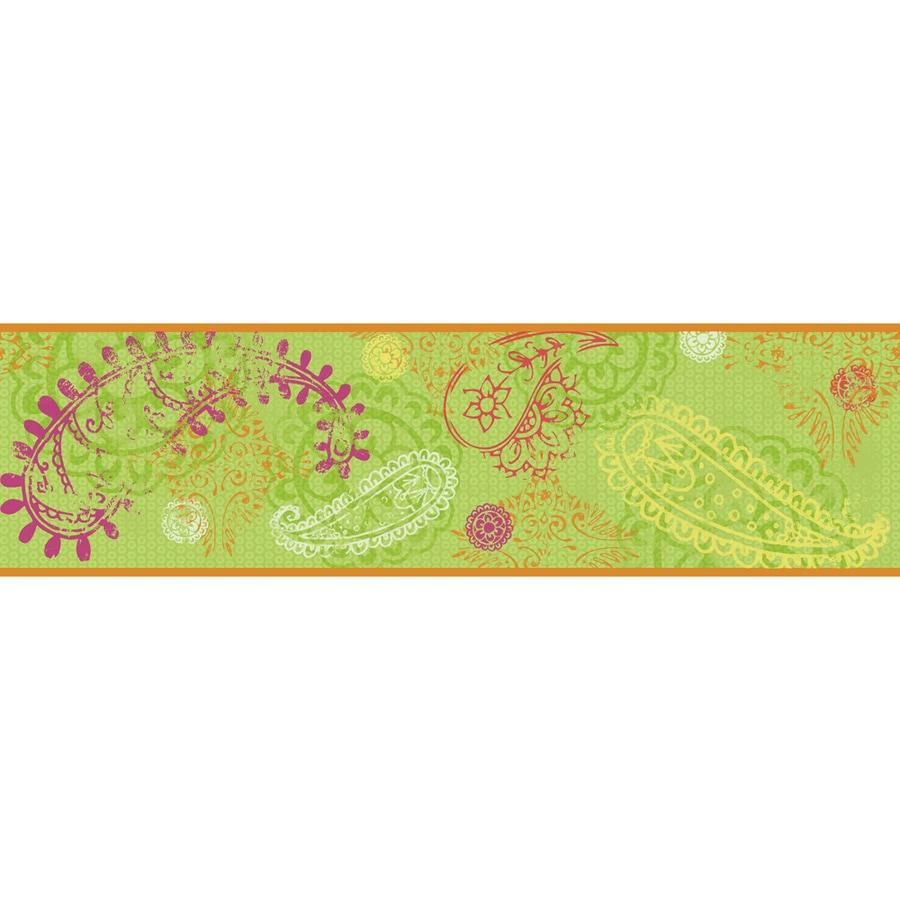 York Wallcoverings 6.75-in Lime Prepasted Wallpaper Border
