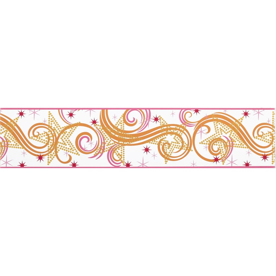 York Wallcoverings 6.75-in Multicolor with Glitter Prepasted Wallpaper Border