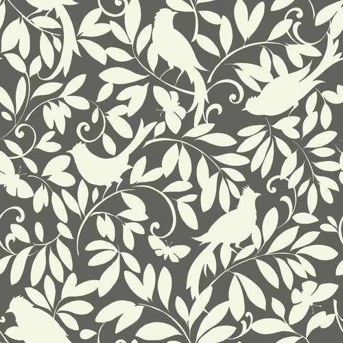 York Wallcoverings Waverly Cottage 56-sq ft Gray Paper ...