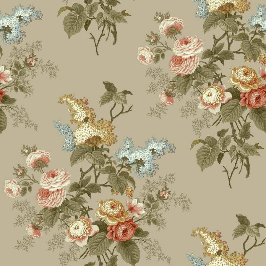 York Wallcoverings Waverly Cottage 56-sq ft Taupe Paper ...