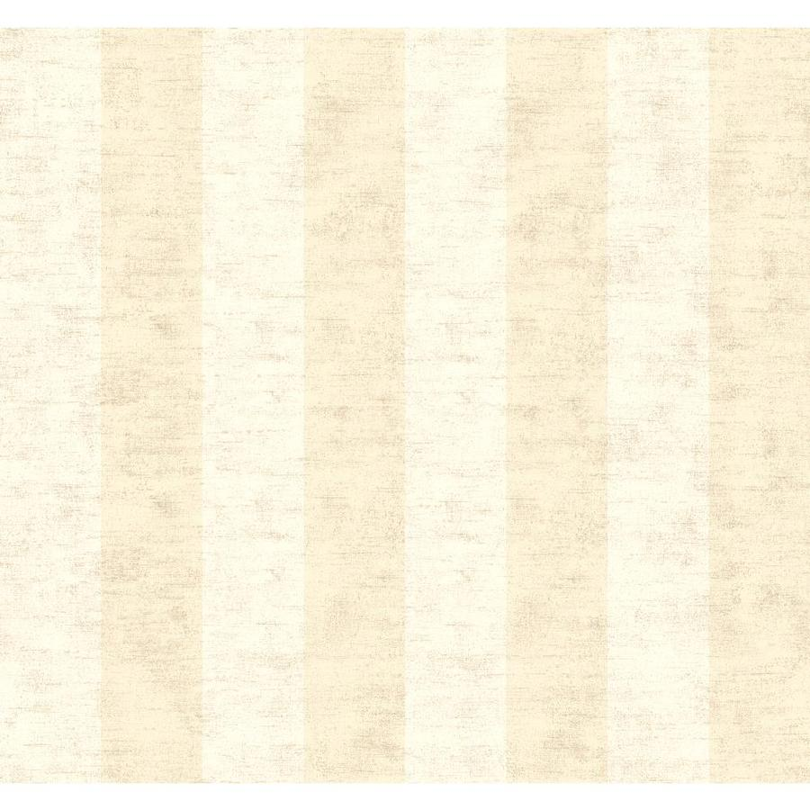 York Wallcoverings Red Book Almond, Beige Paper Stripes Wallpaper