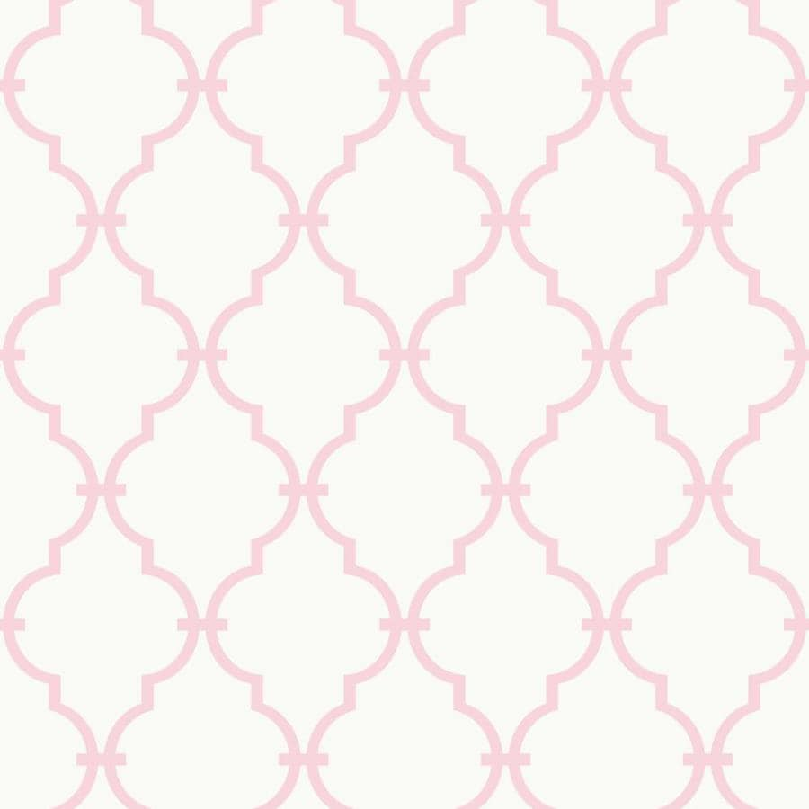 Inspired By Color Pink and White Paper Geometric Wallpaper