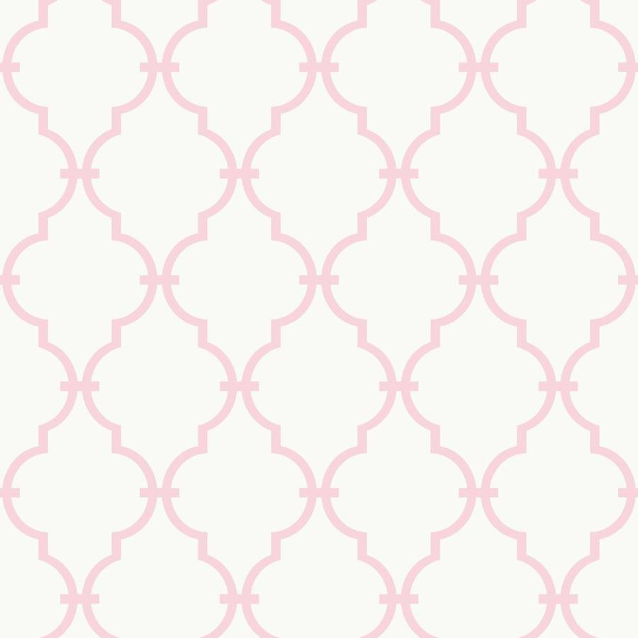 Inspired By Color Peek-A-Boo Pink and White Paper Geometric Wallpaper