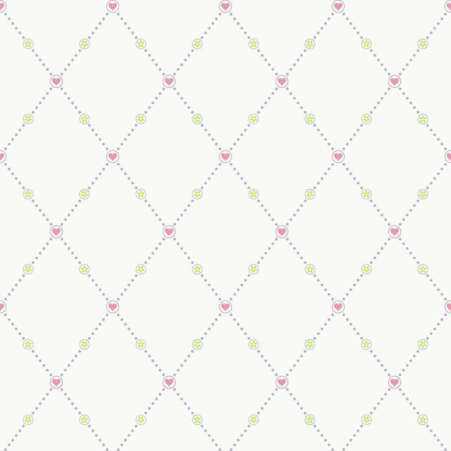 Inspired By Color Kids Book Pink, Green, Cream Paper Geometric Wallpaper