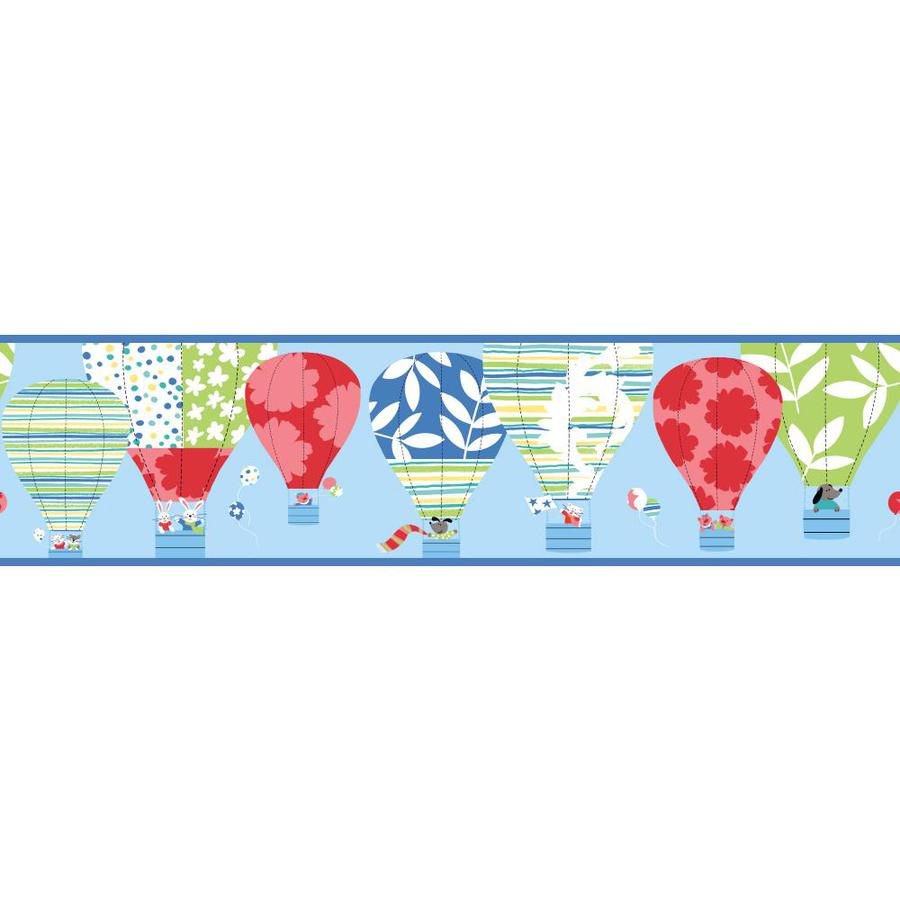 Inspired By Color 9-in Blue Prepasted Wallpaper Border