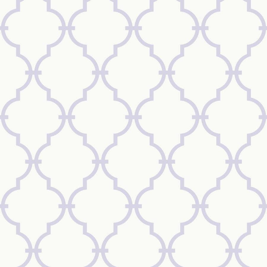 Inspired By Color Peek-A-Boo Purple and White Paper Geometric Wallpaper