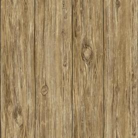 RoomMates 28.2 Sq Ft Brown Vinyl Wood Wallpaper