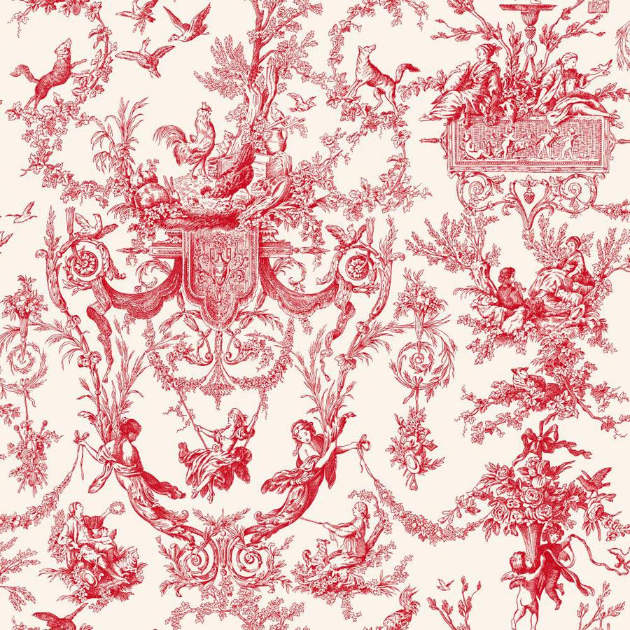 Inspired By Color Red Book Red Paper Toile Wallpaper