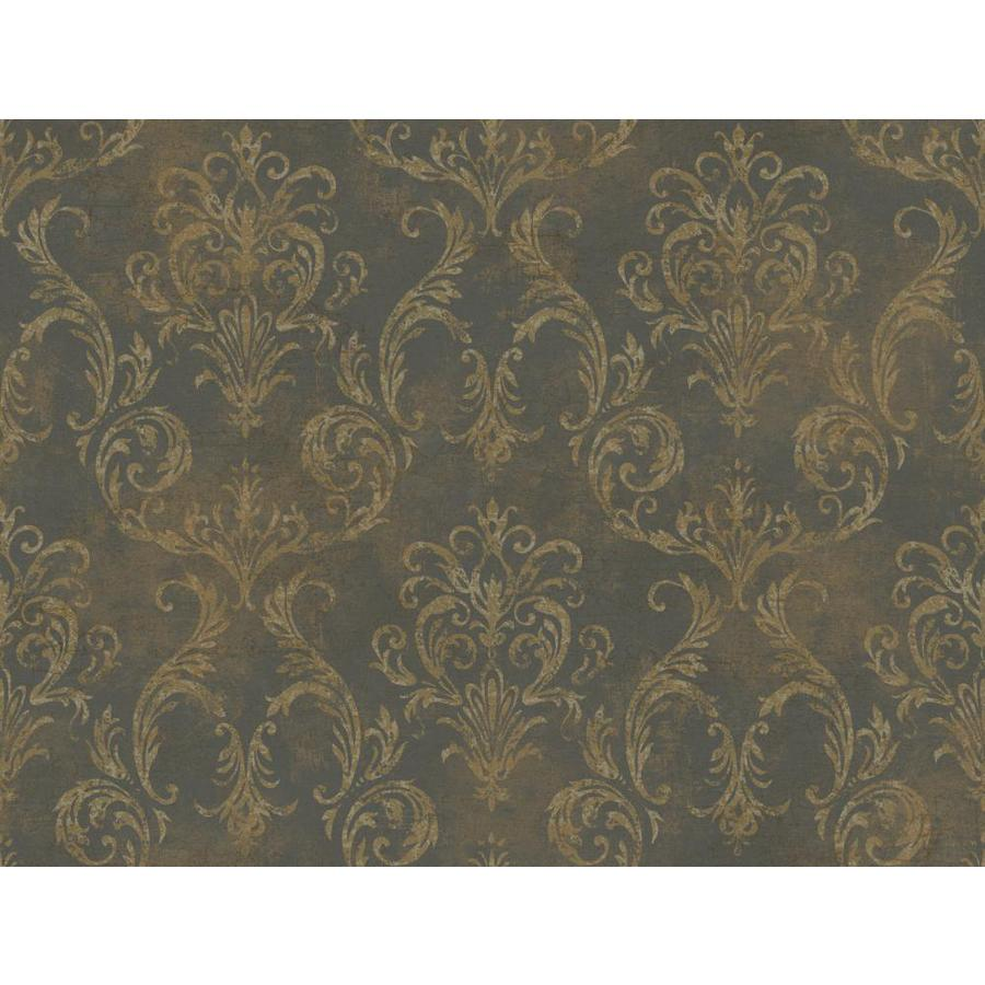 Inspired By Color Gold Paper Damask Wallpaper