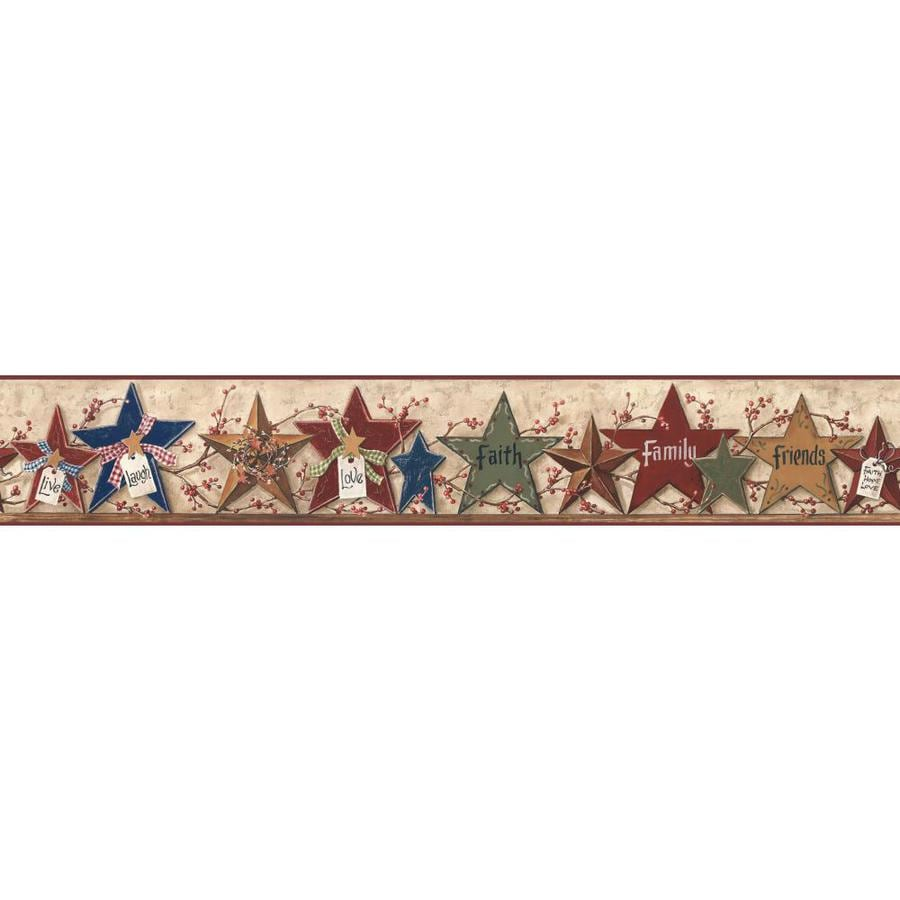 Inspired By Color 6-in Multicolor Prepasted Wallpaper Border