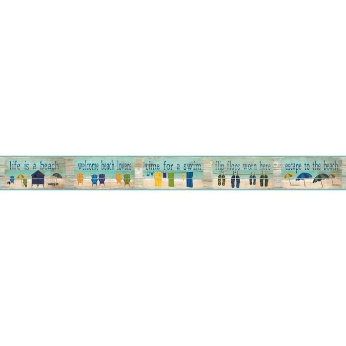 Roommates 6 In Blue Prepasted Wallpaper
