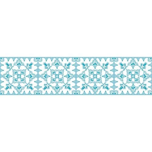 RoomMates 6-in Teal Prepasted Wallpaper Border in the ...