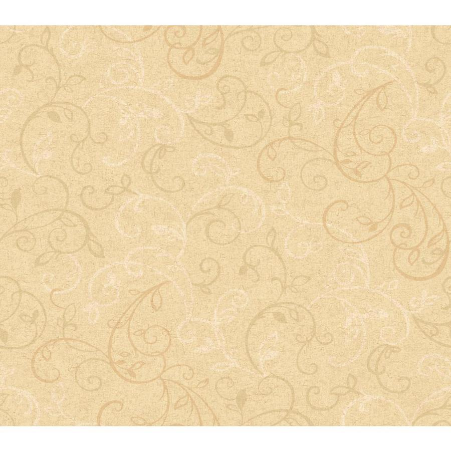 Inspired By Color Orange and Yellow Book Tan Paper Scroll Wallpaper