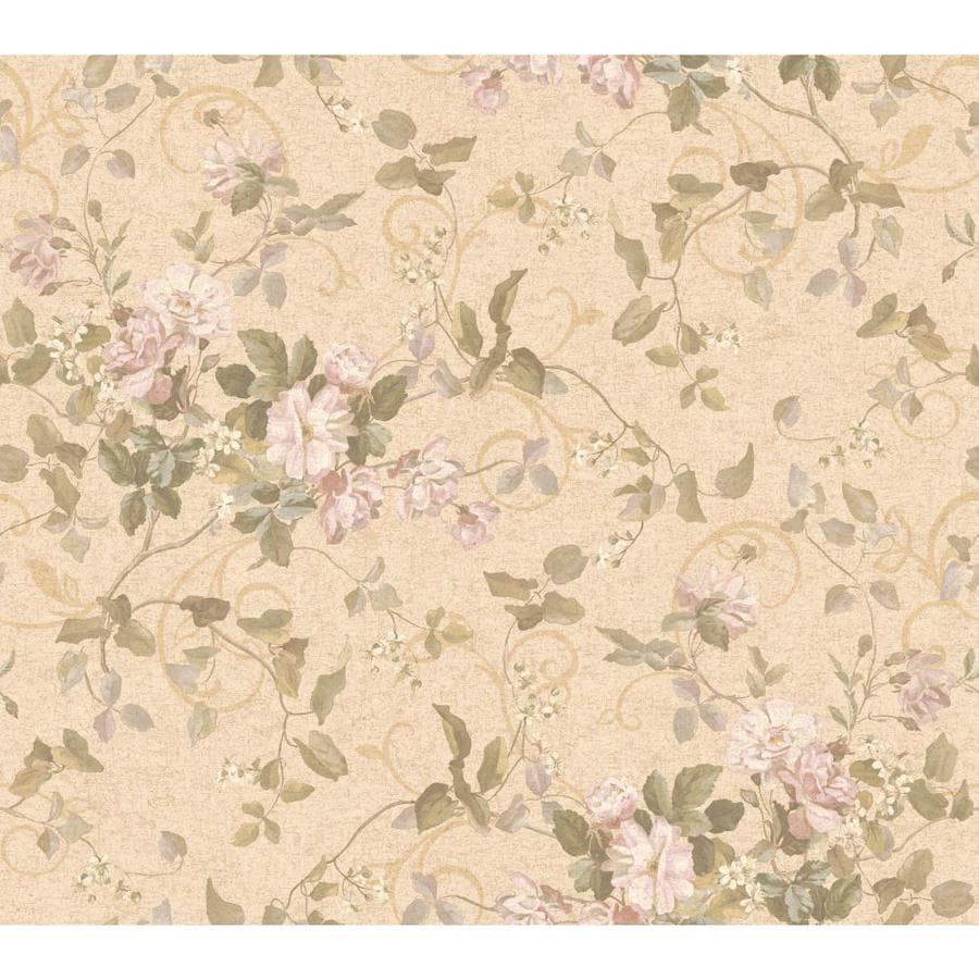 Inspired By Color Pink and Green Paper Floral Wallpaper