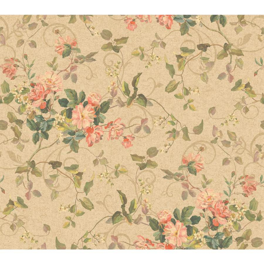 Inspired By Color Pink and Purple Book Pink and Beige Paper Floral Wallpaper