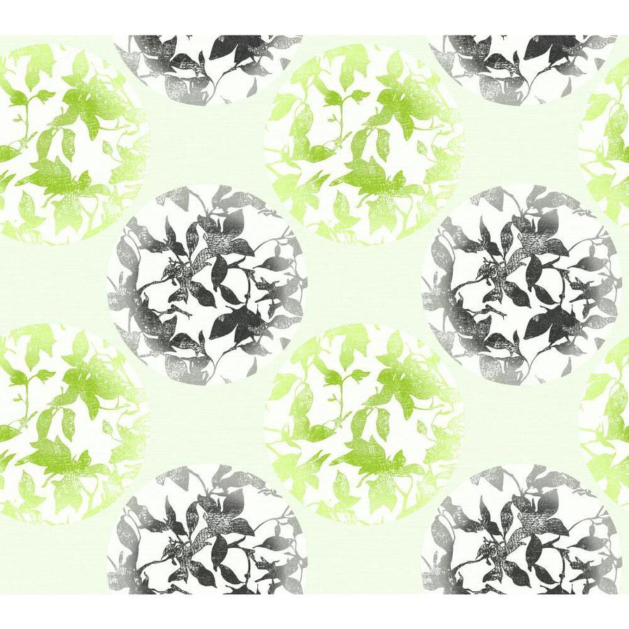 York Wallcoverings Risky Business Ii Green/Black/Silver Metallic Paper Abstract Wallpaper