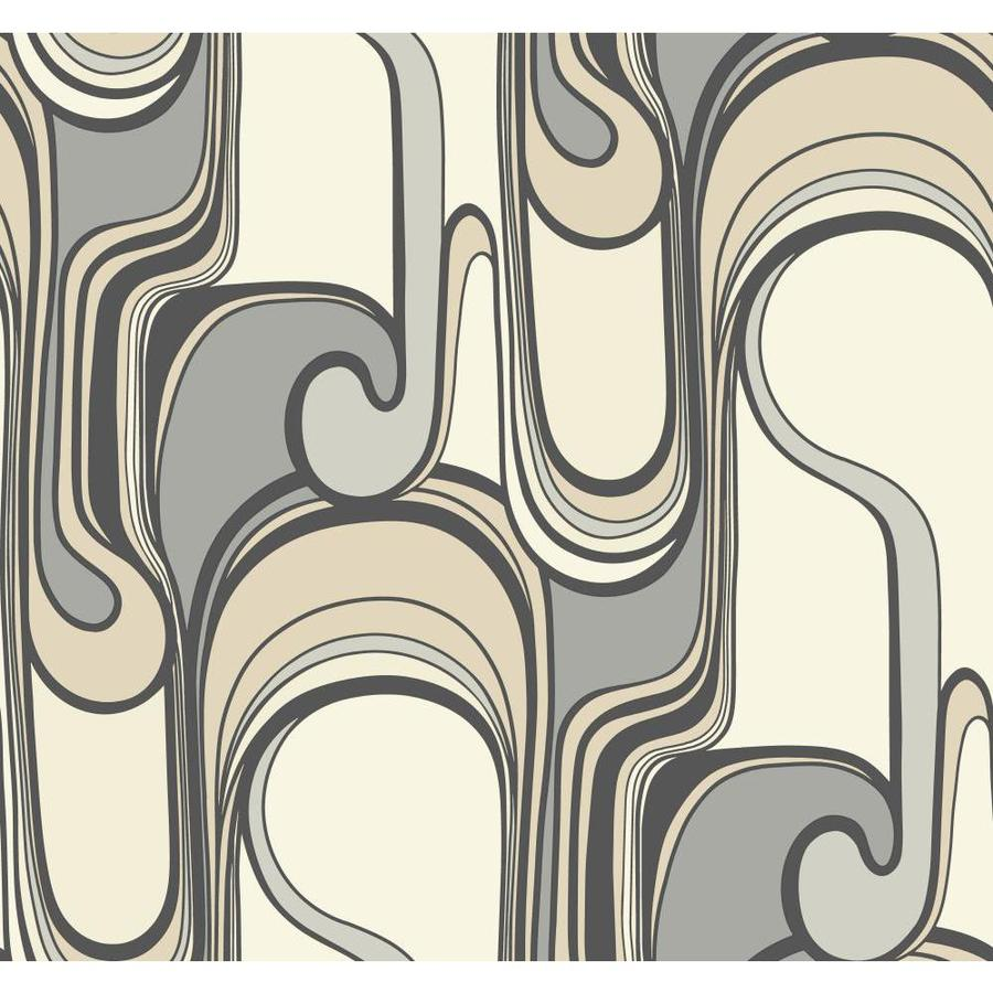 York Wallcoverings Risky Business Ii Black/Gray/Camel/Antique White Paper Abstract Wallpaper