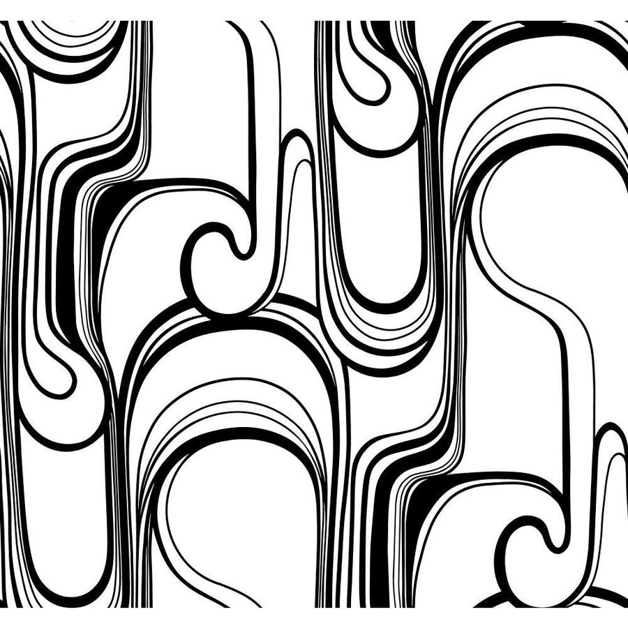 Inspired By Color Risky Business II Black/White Paper Abstract Wallpaper