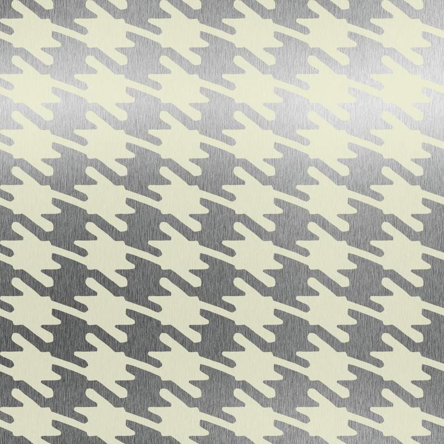Shop york wallcoverings risky business ii vanilla silver for Wallpaper lowe s home improvement
