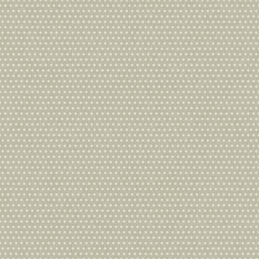 York Wallcoverings Risky Business Ii Cream/Silver Metallic Paper Polka Dot Wallpaper
