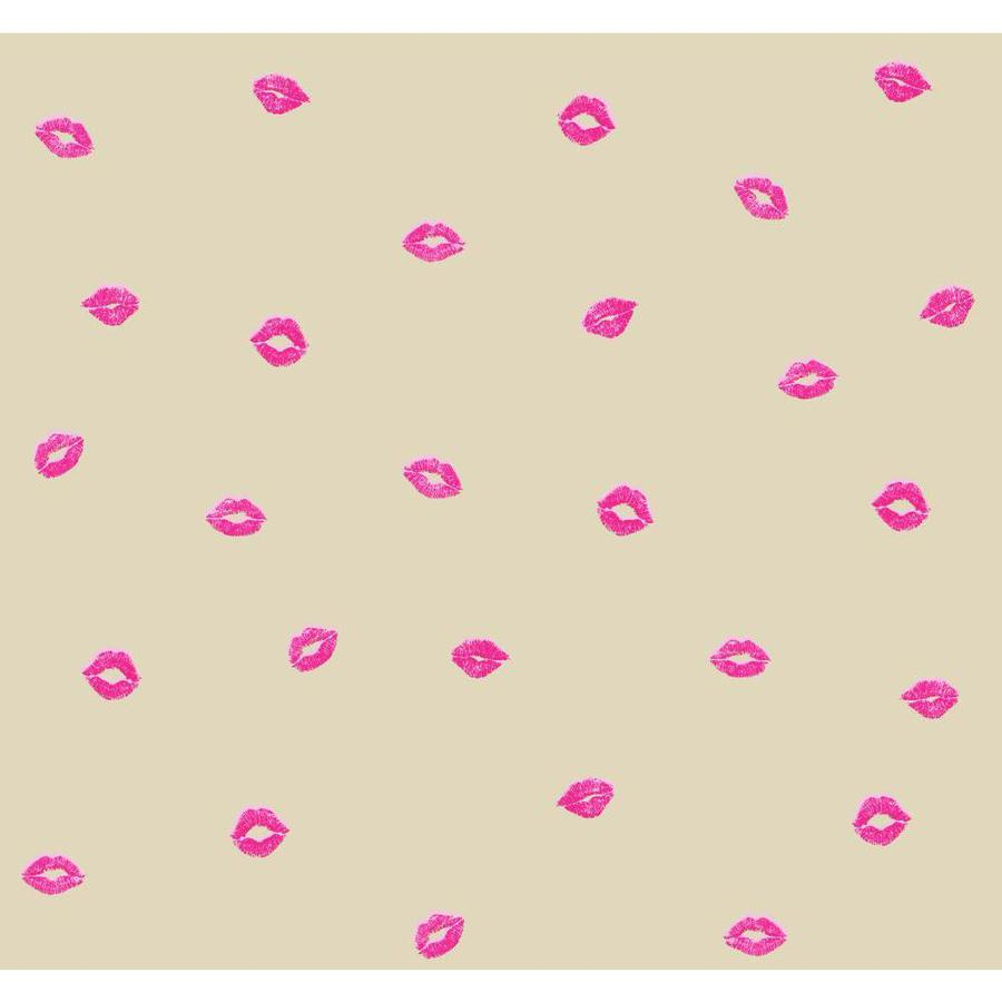 York Wallcoverings Risky Business II Fuchsia/Pink/Silver Glitter/Industrial Gold Pearl Paper Abstract Wallpaper