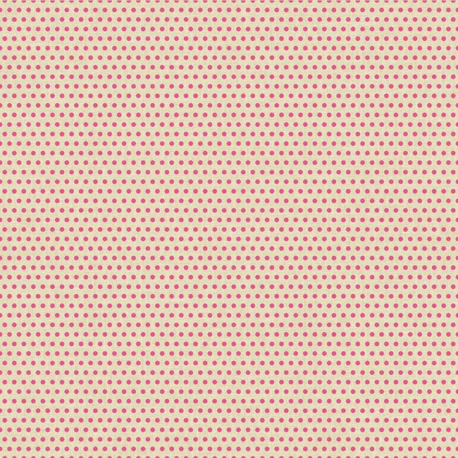 York Wallcoverings Risky Business Ii Khaki/Magenta Paper Polka Dot Wallpaper