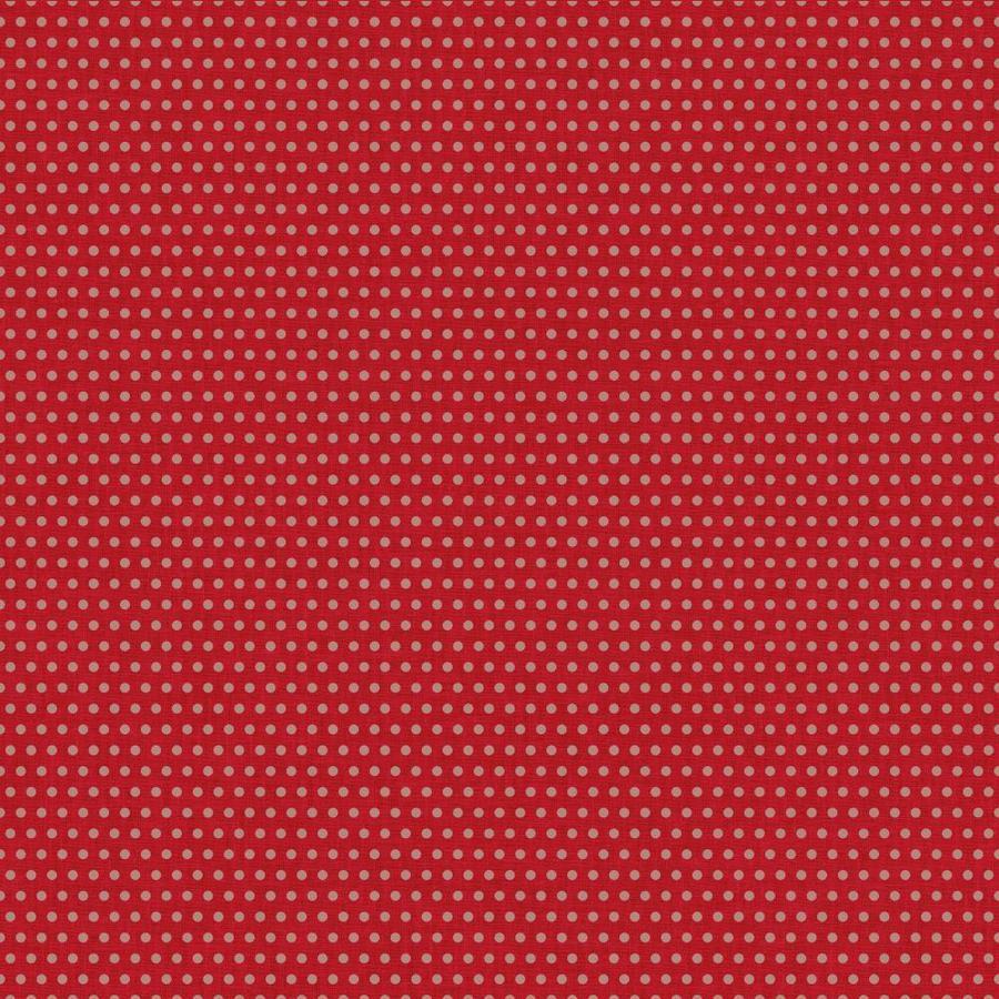 York Wallcoverings Risky Business II Beige/Red Paper Polka Dot Wallpaper